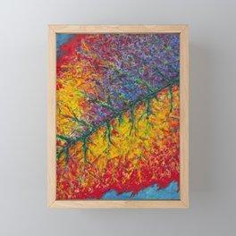Vibrant Colors in an Autumn Leaf Framed Mini Art Print