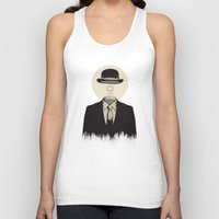 magritte Tank Tops featuring Magritte | The Loading of Man by Gabriel Mihai | SnakeBishop