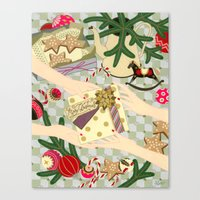 gift card Canvas Prints featuring Merry Christmas gift by Yuliya