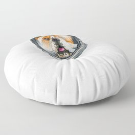 Spaced Out Astronaut Bulldog Outserspace Science Geek Floor Pillow