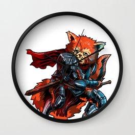 Knight Red Panda Cavalier Sword Noble Warrior Gift Wall Clock
