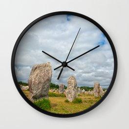Carnac Stones Wall Clock