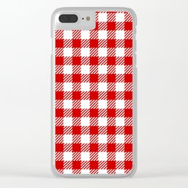 Red Vichy Clear iPhone Case