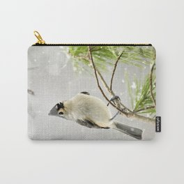 Snowy Songbird Carry-All Pouch