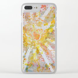 Sun Splatter Clear iPhone Case