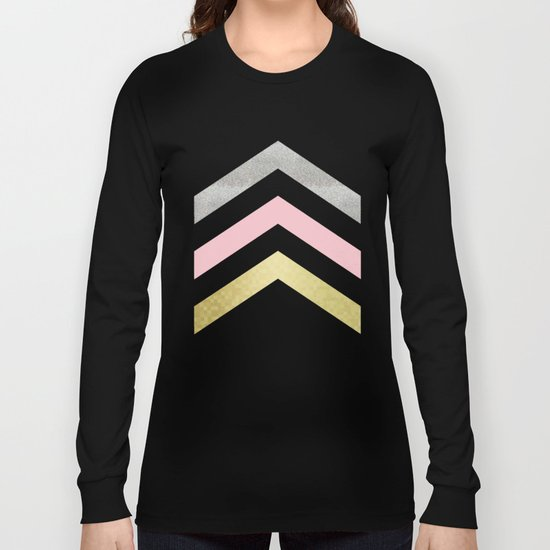 Chevron Pattern Long Sleeve T-shirt
