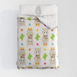 Pattern Of Llamas, Cute Llamas, Alpacas, Cactus Comforters