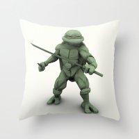 ninja turtle Throw Pillows featuring ninja turtle by aterg88