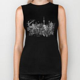 Toronto! (Dark T-shirt Version) Biker Tank