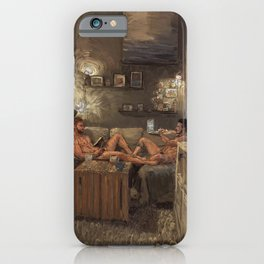 Two Guys One Couch iPhone Case