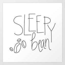 Sleepy Bean Art Print