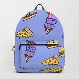 Fast Food Cuties (Blue) Backpack