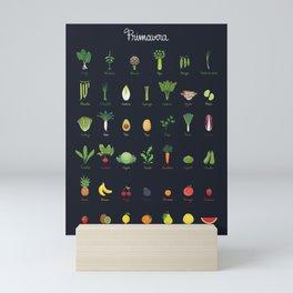 Spring - Seasonal Fruits and Vegetables Mini Art Print