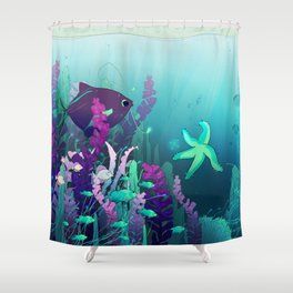 Deep down in the water Shower Curtain