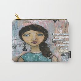 The World at your Finger Tips Carry-All Pouch