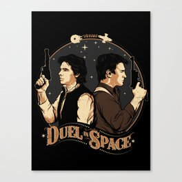 Duel in Space Canvas Print