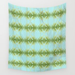 Hot Mint and Blue Sky Wall Tapestry