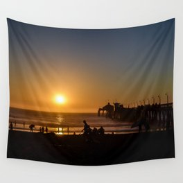 San Diego Sunset Wall Tapestry