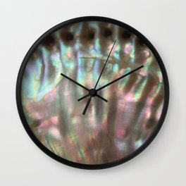 Shimmery Greenish Pink Abalone Mother of Pearl Wall Clock