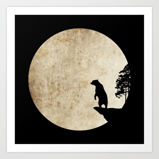 Bear Night Art Print