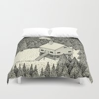 house Duvet Covers featuring 'The Middle Of Nowhere'  by Alex G Griffiths