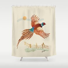 male pheasant Shower Curtain