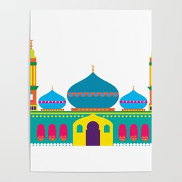 Cheerful Mosque Poster