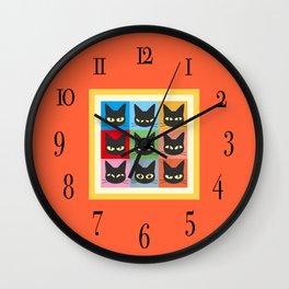 Nine emotions Wall Clock