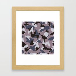 Gray army camo camouflage pattern Framed Art Print