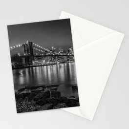 Nightly Stroll along the East River | Monochrome Stationery Cards