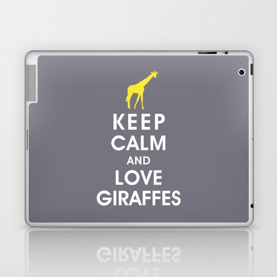 Keep Calm and Love Giraffes Laptop & iPad Skin