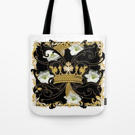 My Empire Collection Summer Set White Flowers Crown Tote Bag