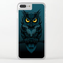 owl night Clear iPhone Case