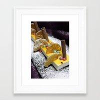 dessert Framed Art Prints featuring Dessert by Ornaart