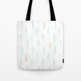 Feathers - Green & Gold #442 Tote Bag