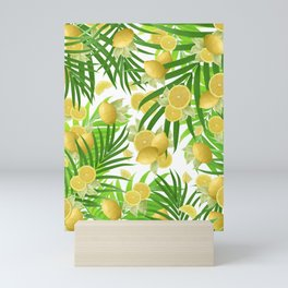 Summer Lemon Twist Jungle #2 #tropical #decor #art #society6 Mini Art Print