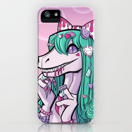 Dino Lolita Girl iPhone Case
