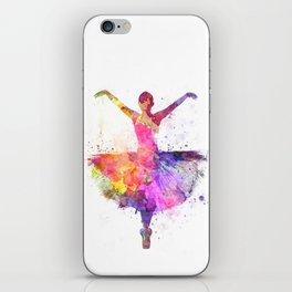 Woman ballerina ballet dancer dancing iPhone Skin