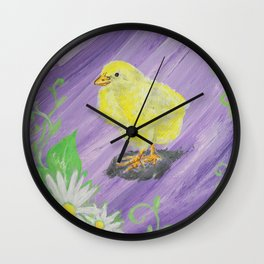 New Beginnings 2: Daisy Chick Wall Clock