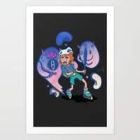 inner demons Art Prints featuring Inner Demons by Joni Waffle