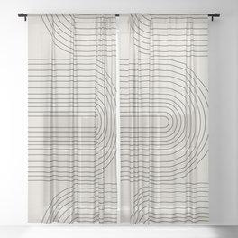 Arch Art, Modern Pattern, Mid Century  Sheer Curtain