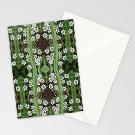 206 - Queen Anne's Lace abstract pattern Stationery Cards