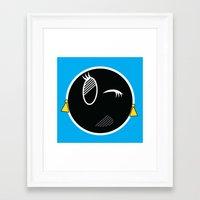 tina crespo Framed Art Prints featuring TINA by A B S T R A C Q
