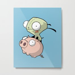 Gir and Piggy Metal Print