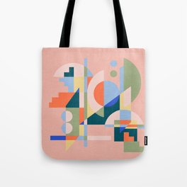Abstract cityscape in funny geometric shapes Tote Bag