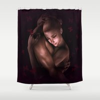 lovers Shower Curtains featuring Lovers by Britta Glodde