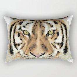 Stylized Tiger Portrait Rectangular Pillow