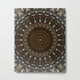 Mandala in different brown tones Metal Print