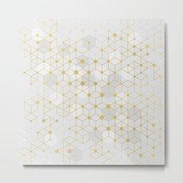 Deluxe Geometric Metal Print