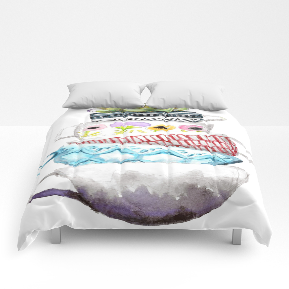 Cups On Cups On Cups Comforter by Hapticdrifter CMF8656197